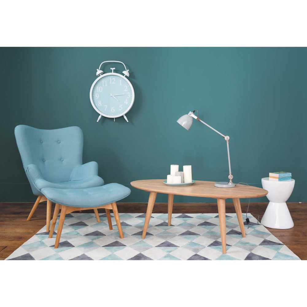 Tapis à poils courts bleu 140 x 200 cm | Armchairs, Fabric armchairs ...