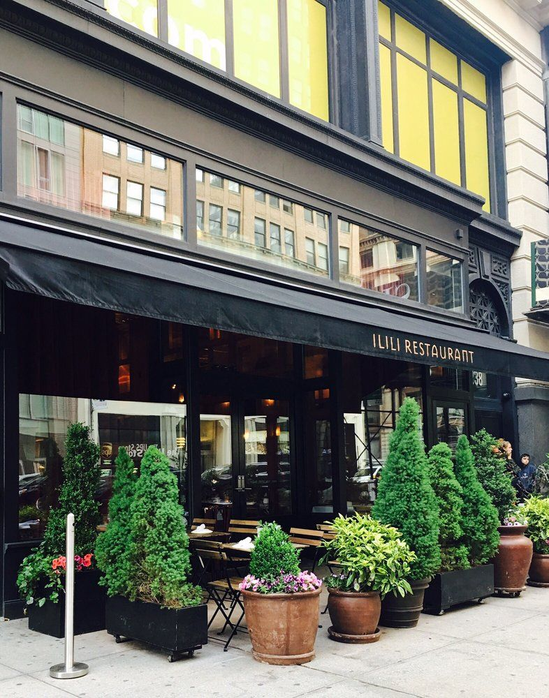 Photo Of Ilili New York Ny United States Exterior Storefront Outdoor Seating Outdoor Seating Photo Exterior