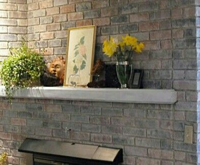 Painted Brick Red Fireplaces, How To Paint A Brick Fireplace Look Like Stone
