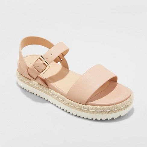 a8bcbee8d8b7 Women s Rianne Espadrille Ankle Strap Sandals - A New Day™ Blush 9   Target
