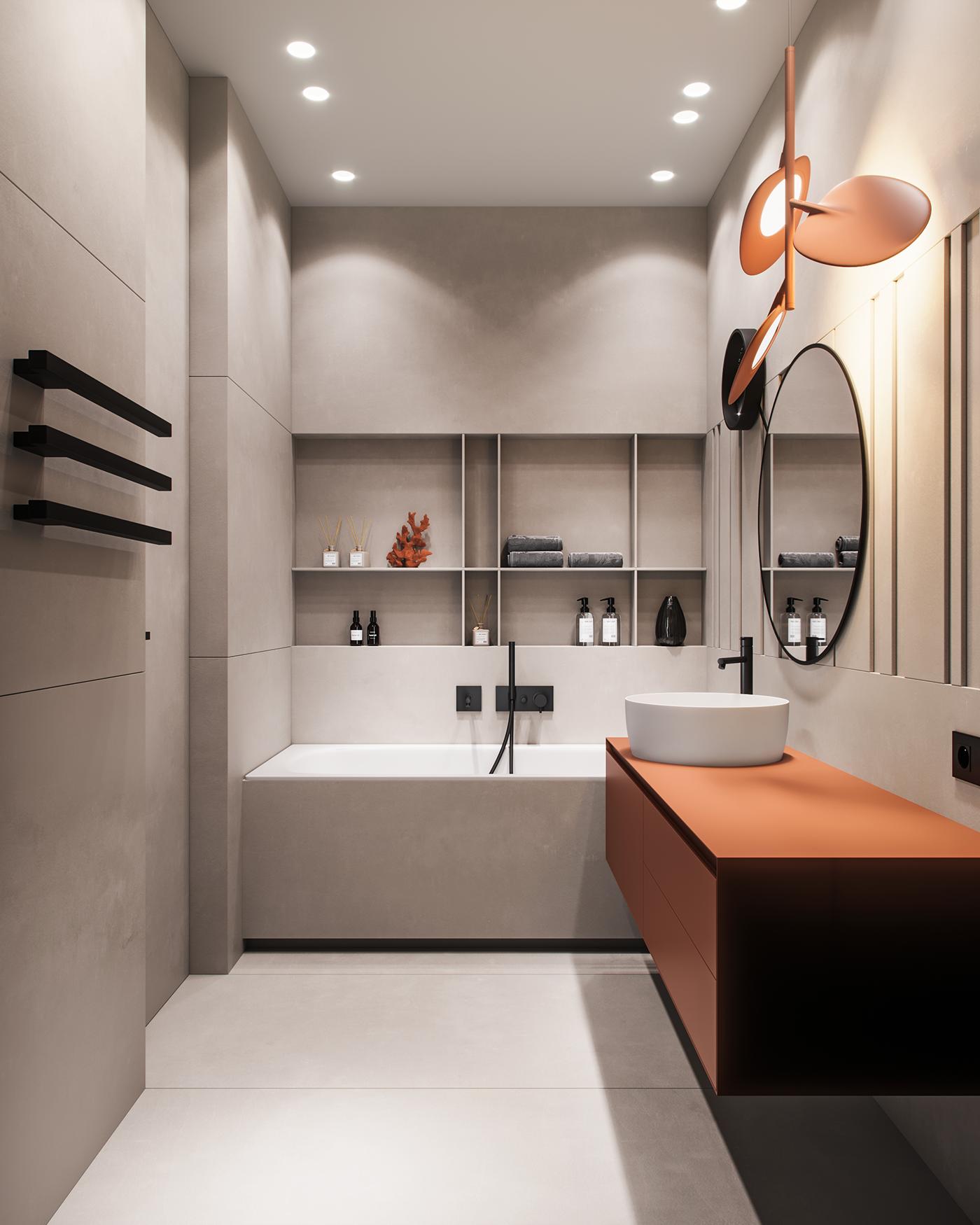Mops The Brick On Behance Krasivye Vannye Komnaty Interer Dizajn Interera