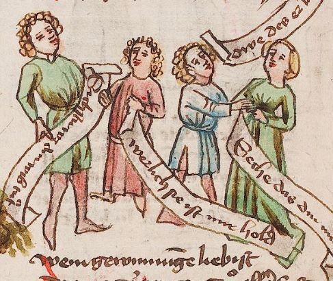 Wolfenbüttel, Herzog August Bibliothek,  Thomasin <Circlaere>   Welscher Gast (W) — Süddeutschland, 3. Viertel des 15. Jhs. Cod. Guelf. 37.19 Aug. 2° Folio 38v