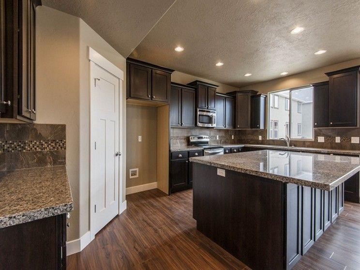 New Dark Cabinets Google Search White Granite Countertops
