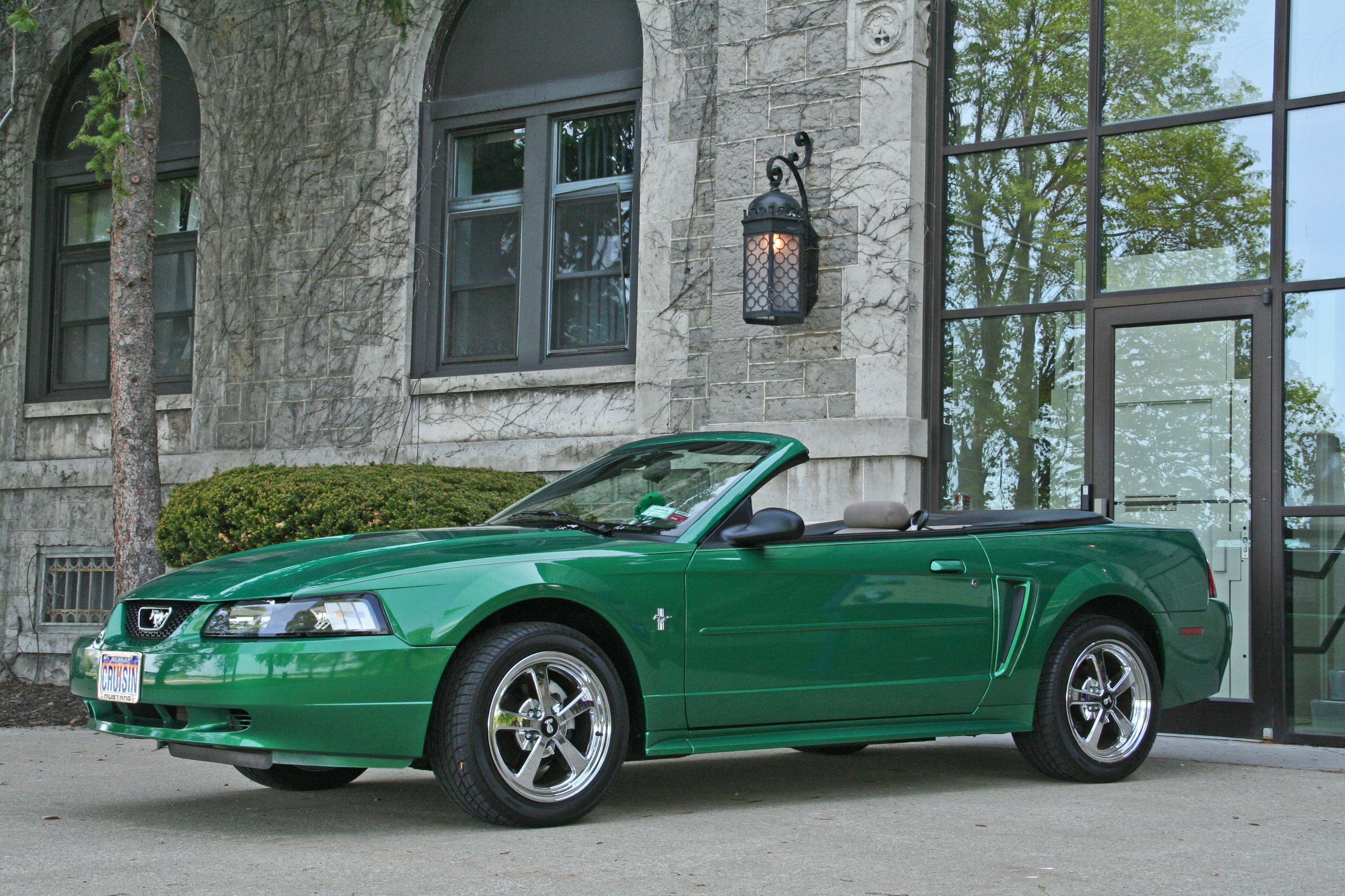 2000 Electric Green Mustang Convertible Cleared Smoked Corners And Chrome Afs Rims Shadeofgreenmustangregistry Sgmr