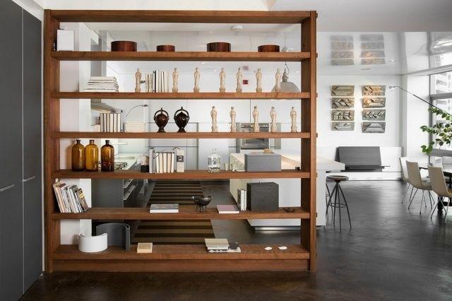 holzregal-system für wohnzimmer-trennwand für jeden ... - Moderne Trennwande Wohnzimmer