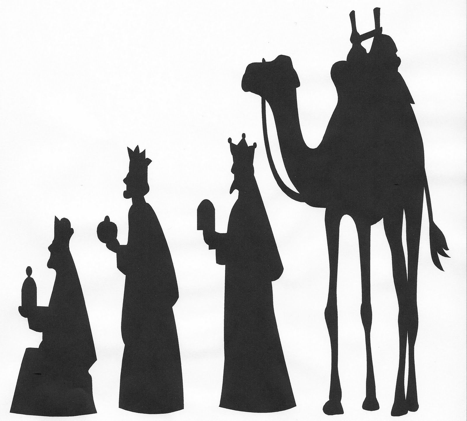 hight resolution of wise men silhouette clip art google search