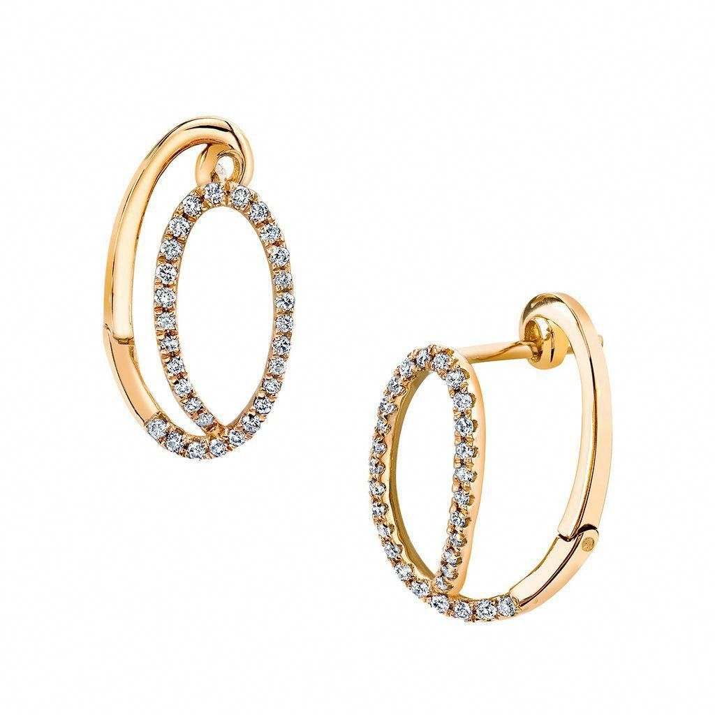 Lois Earrings Diamondhoopearrings Round Diamond Earrings Fine Jewellery Earrings Modern Jewelry