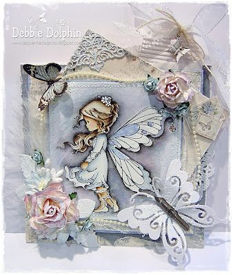 Whimsy Wee Stamp-Silver Fairy.