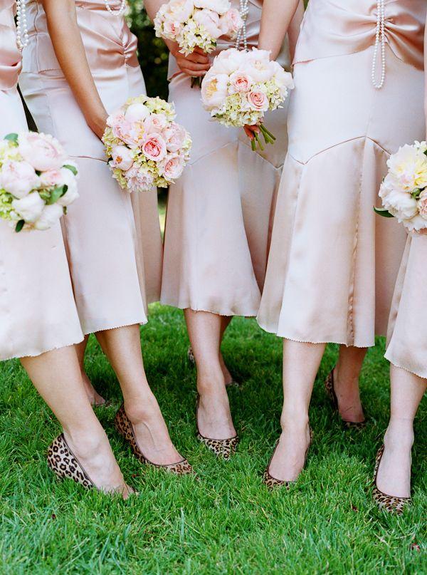 pink dress leopard shoes