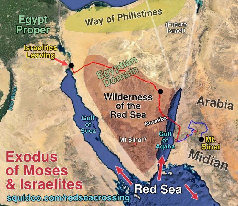Israelites Egypt Exodus The Red Sea Crossing And Entering Into