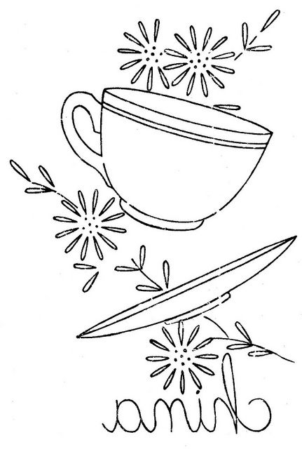 kitchen towel pattern for embroidery