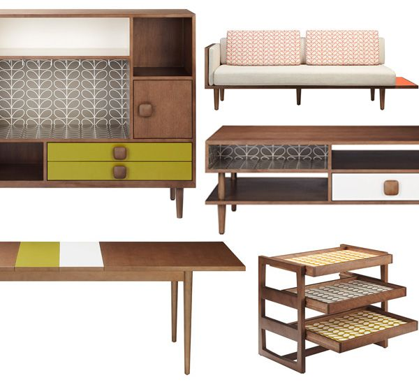 New Furnishings From Orla Kiely Swoon Via The Red Thread Happy Best Red Thread Furniture Interior