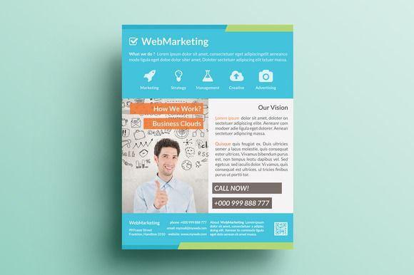 Creative Marketing Flyer V13 Pinterest Marketing flyers, Edit