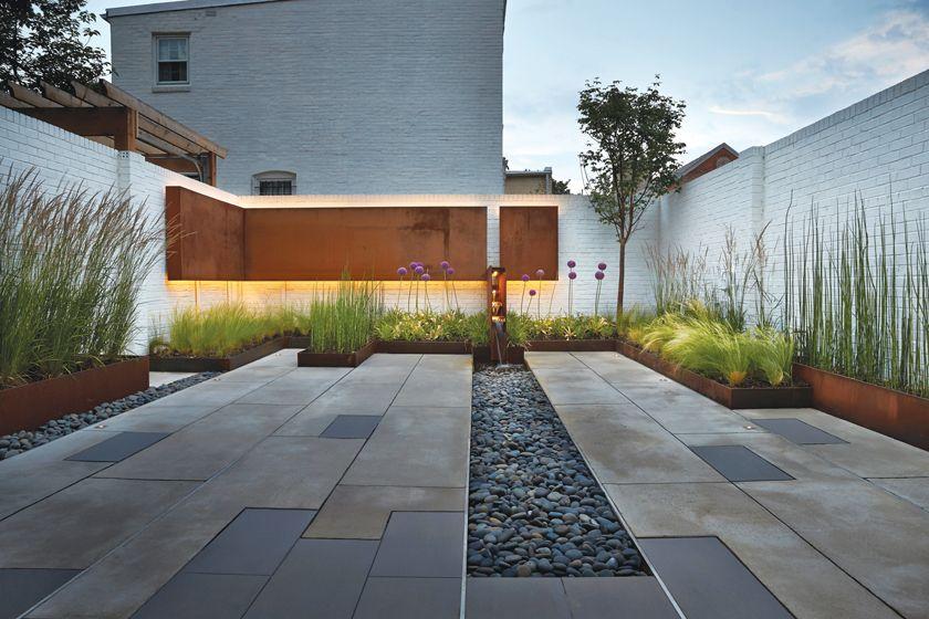 Modern Metaphor Modern Garden Patio Modern Landscaping Modern Garden