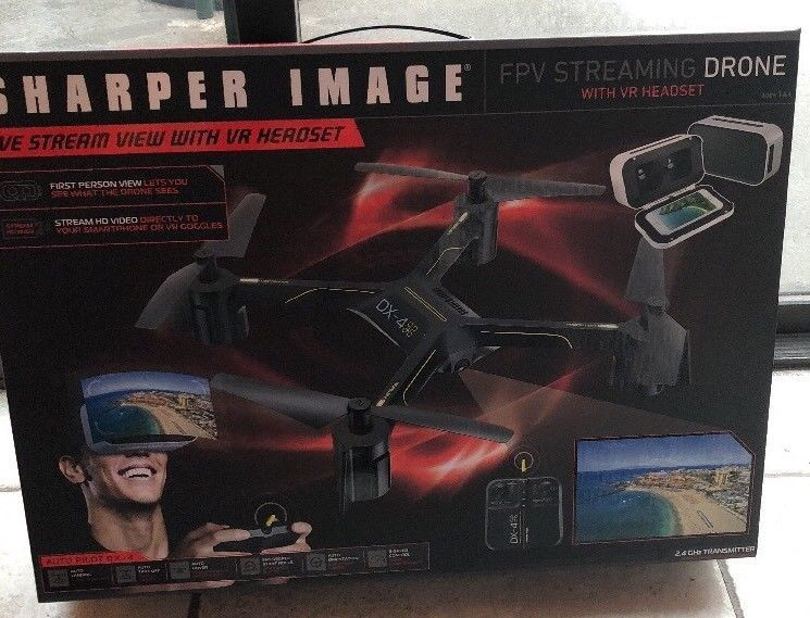New Sharper Image Fpv Streaming Drone With Vr Headset Auto Pilot Dx