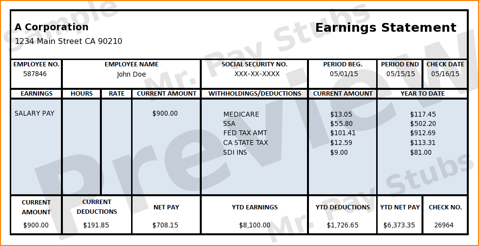 7+ pictures of pay stubs Secure Paystub Good essay