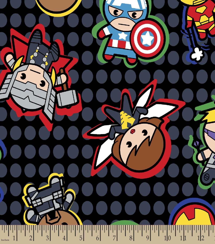Marvel S Kawaii Print Fabric Characters Fabric Finds