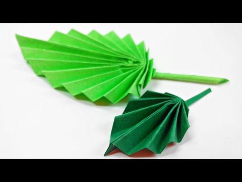 Origami leaf paperleaves diy design craft making tutorial easy origami leaf paperleaves diy design craft making tutorial easy cutting from paper step by step youtube mightylinksfo