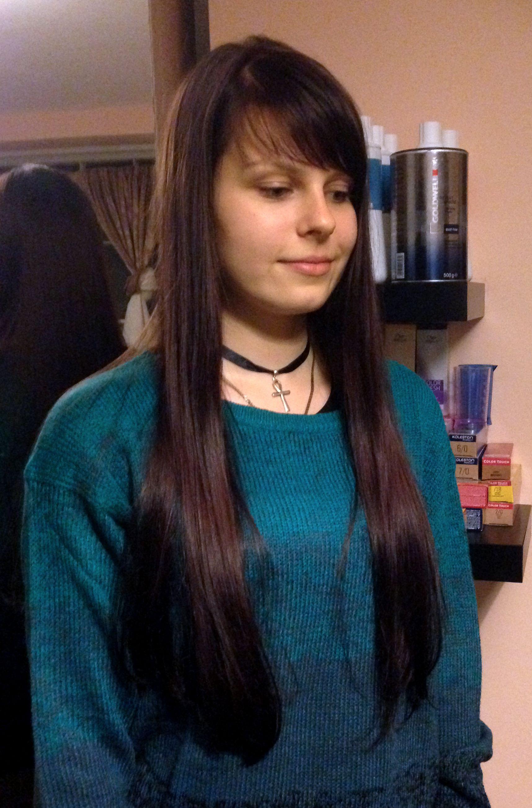 one length cut for long hair
