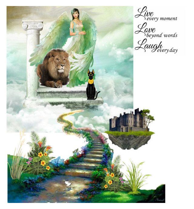 """The Bridge"" by freida-adams ❤ liked on Polyvore featuring art"