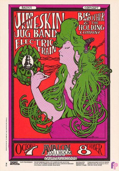 Jim Kweskin Jug Band at Avalon Ballroom 10/7-8/66 by Stanley Mouse & Alton Kelley