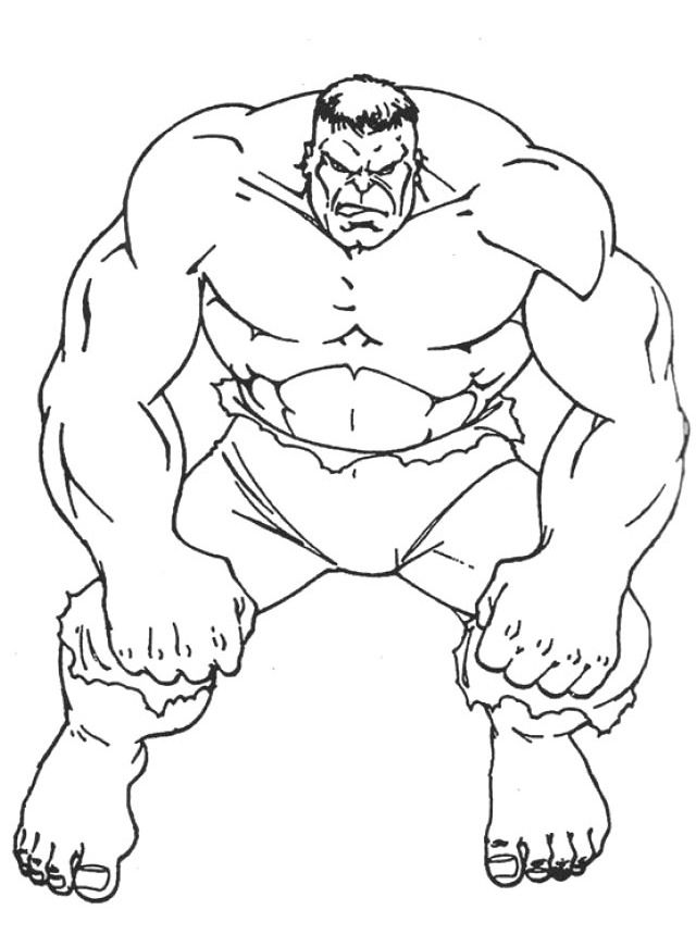 free hulk coloring pages - photo#25