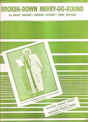 Sheet Music 1950 Broken Down Merry Go Round Margaret Whiting 53
