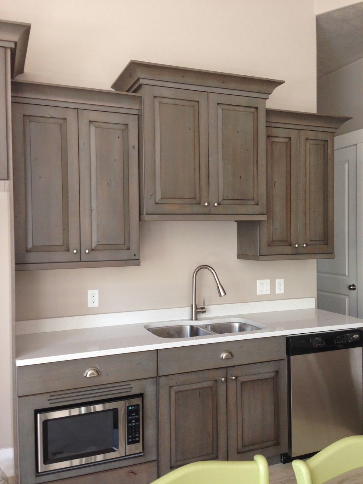 Smokey Grey Cabinets Reference Too Dark For Top Too Light For Bottom Marble Backsplash Kitchen Basement Kitchen Kitchen Design