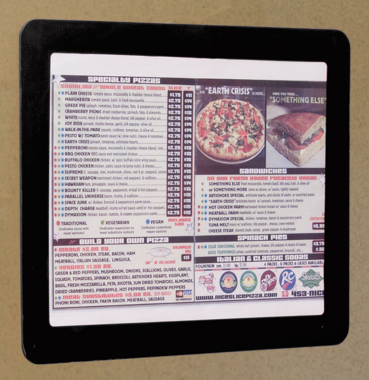 85 X 11 Window Sign Holder With Magnetic Lens Adhesive Dots