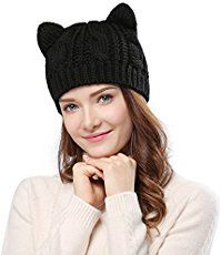 7e4e16256ea My Black Cat Slouch Hat has chunky ribbing and cute cat ears. The simple  and free Crochet Cat Hat pattern works up quickly and makes a great gift.