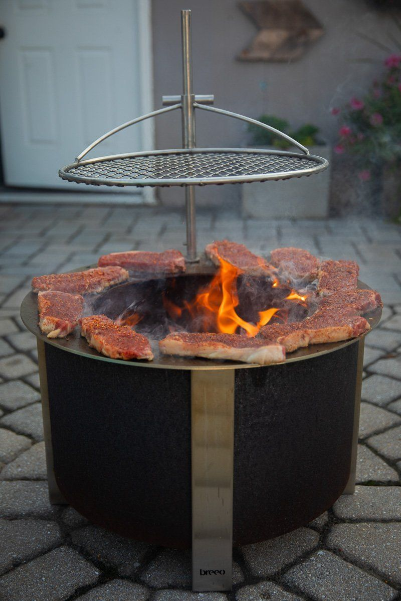 Breeo X Series 19 In 2020 Wood Fired Cooking How To Cook Burgers Fire Pit