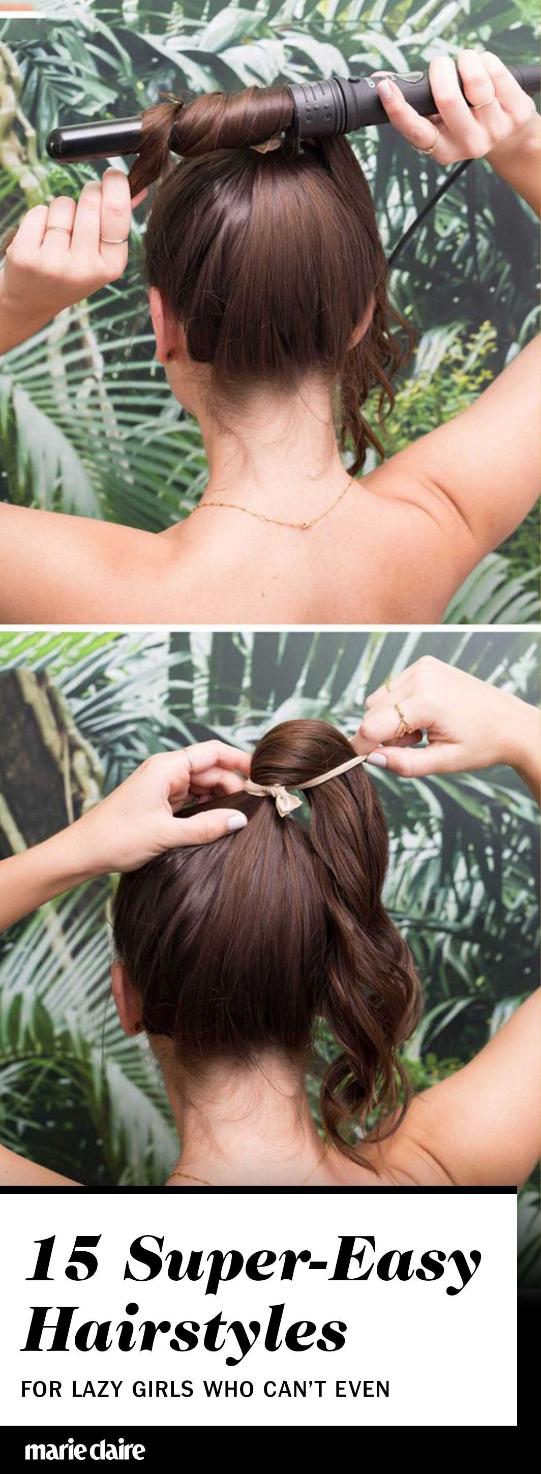 supereasy hairstyles for lazy girls who canut even hair