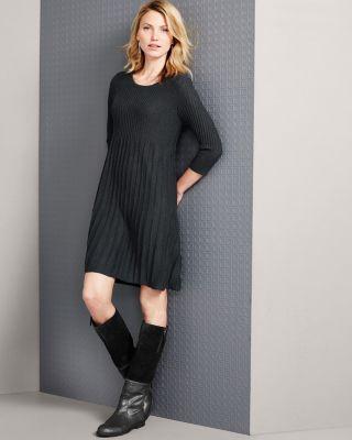 Eileen Fisher Washable Wool Scoop-Neck Dress - Regular