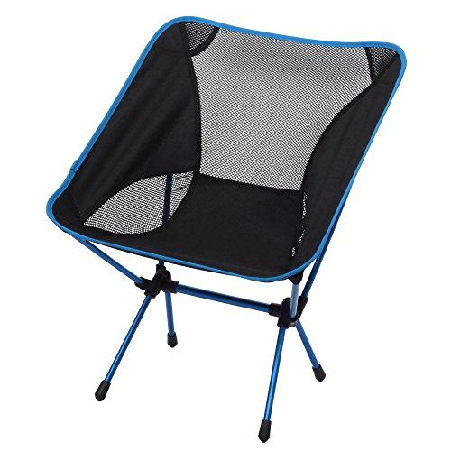 Ancheer Lightweight Portable Heavy Duty Folding Ground Chair With Carrying Bag For Outdoor Fishing Camping Picnic Bbq Light Blue Fishing Chair Camping Chairs Folding Beach Chair