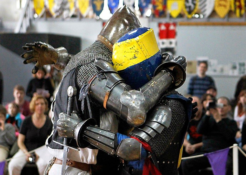 Image result for hugging knight