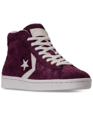 Shop for Converse Cons One Star Pro Suede Mid Top | Black