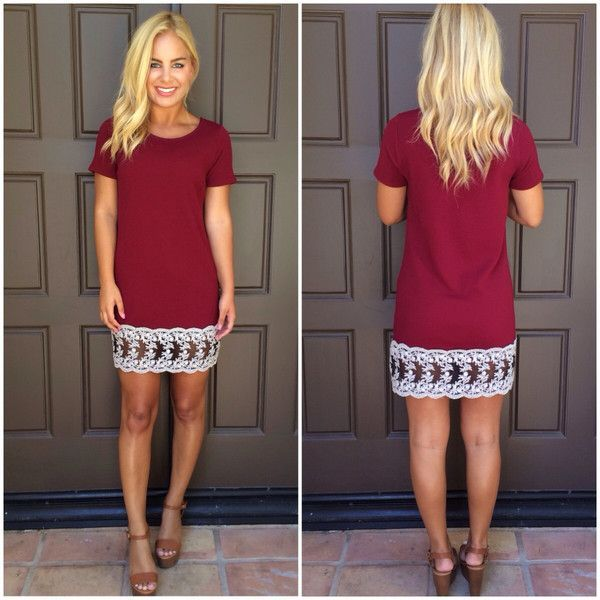 Love this cranberry shift dress-- would be concerned about how it hung off my curves, but with a movable material, I think I would love it!