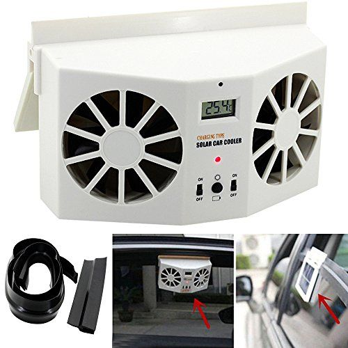 Creative Car Cooling Down Fan Efaster Practical Solar Powered Mini