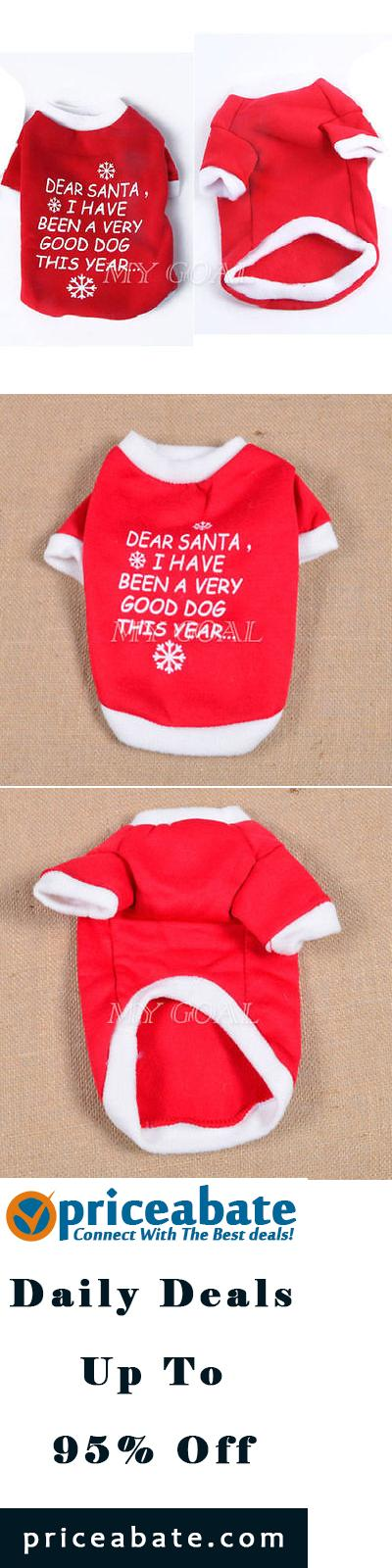 #priceabatedeals Pet Dog Cat Christmas T Shirt Vest Clothes Puppy Jacket Coat Costume Apparel - Buy This Item Now For Only: $2.58