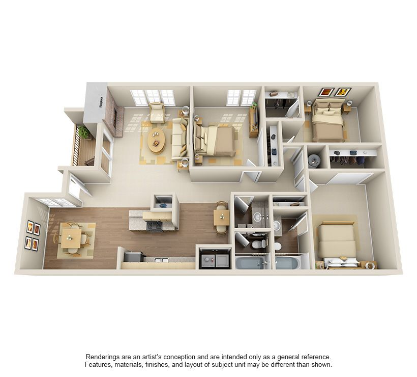 One Two Bedroom Apartments In Edmond Ok Bedroom Apartment Apartment Layout Floor Plans