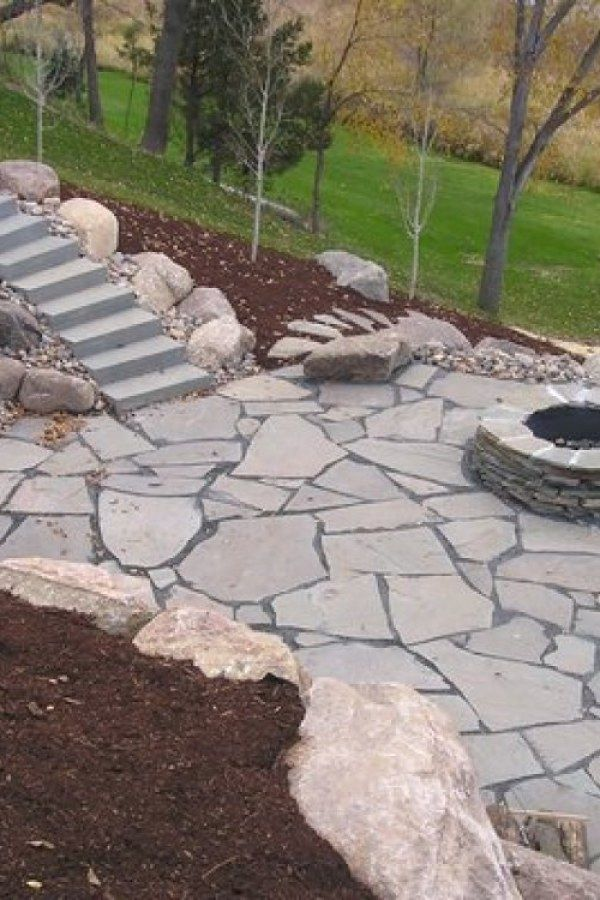 Stone Garden Walkway Ideas Design Stone Patio Designs
