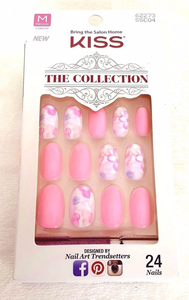 KISS 24 Glue-On Nails The Collection MEDIUM #62273 | Kiss, Fabulous ...