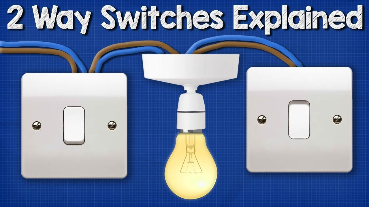 Two Way Switching Explained - How to wire 2 way light switch ... Youtube How To Wire A Switch Light on