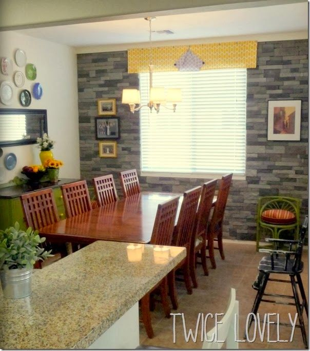 Rock Accent Wall Around Door: Accent Wall With Airstone & The Finished Dining Room
