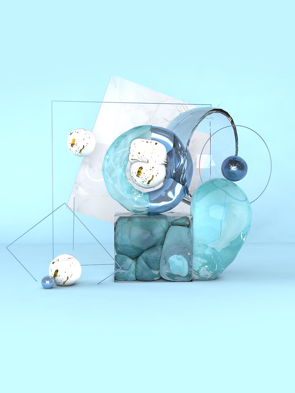 Still life composition in 3D by brbrgraphics