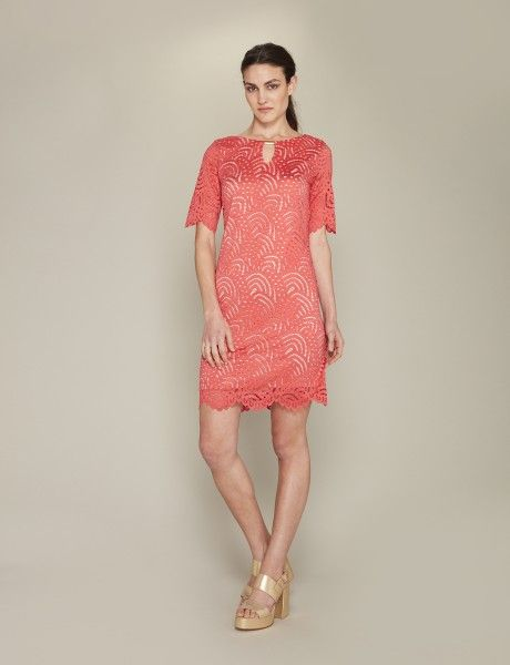 Vestido calado coral | Vestidos, Vestidos de encaje y Ropa