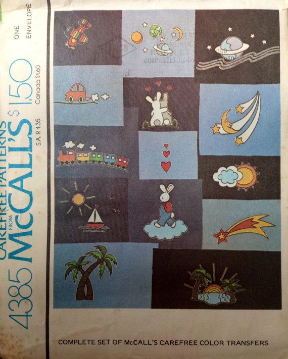 4385 McCall's Color Transfers by Lonestarblondie on Etsy, $3.00