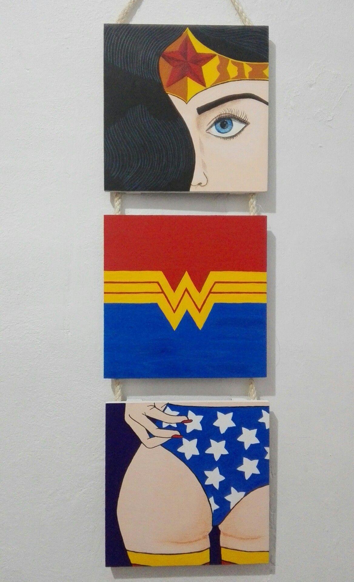 wonder woman. mujer Maravilla. cuadro. ilustración | Cositas ...