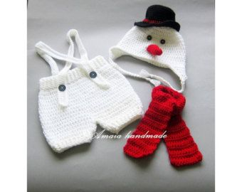 Snowman outfit newborn photo props baby snowman outfit baby christmas outfit christmas  sc 1 st  Pinterest & Snowman outfit newborn photo props baby snowman outfit baby ...