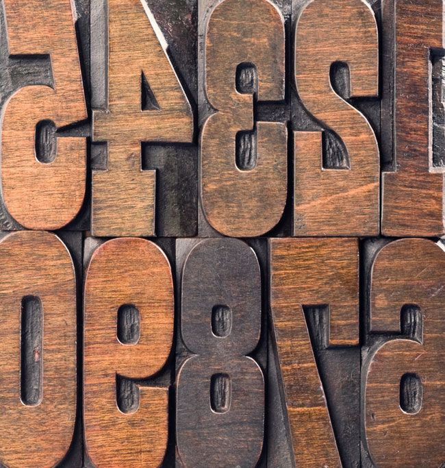 Wood type numbers #typography